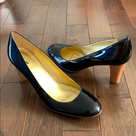 7755286f8e3 J.Crew Juliet Patent Leather Wood Heel Pumps NWT